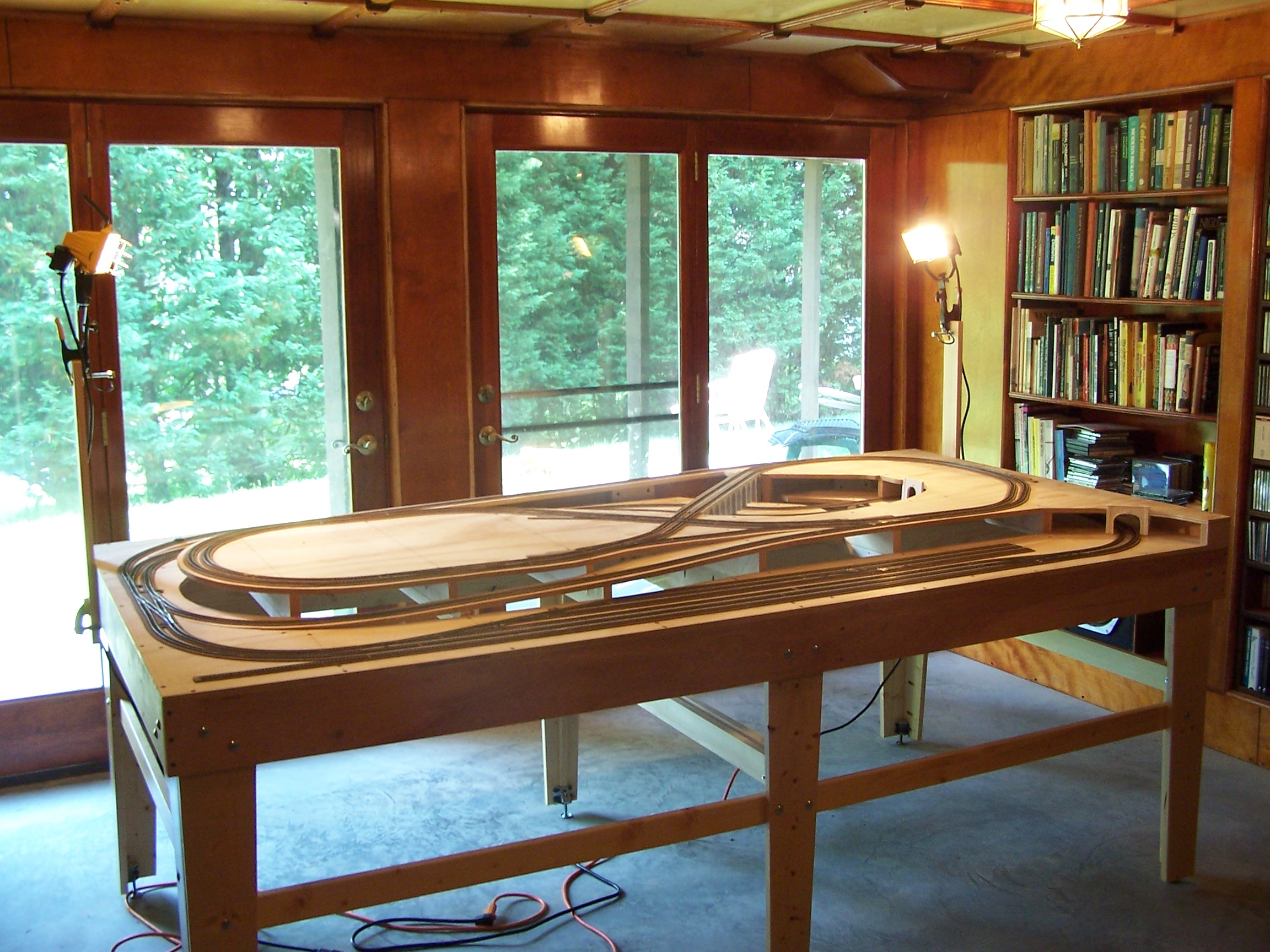 Bill Bentgen Model Railroad Plans For Train Track Wiring Moved To Its Permanent Location